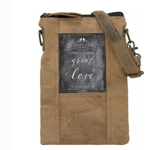 Small Things with Great Love- Recycled Military Tent - Crossbody Bag