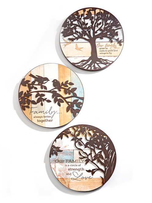 Round Tree of Life Sentiment Wall Plaque