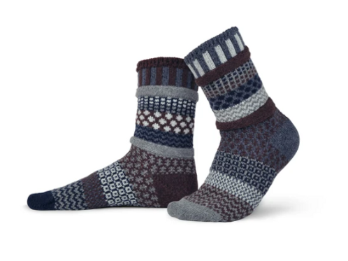 Mahogany Wool Crew Socks