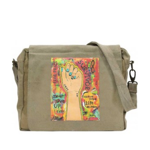 Survivor - Recycled Military Tent - Large Crossbody Bag