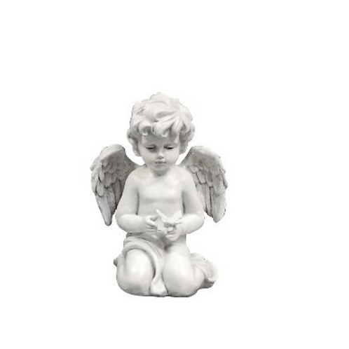 Angel Holding A Dove, Resin