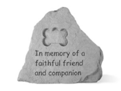 In memory of faithful friend ..... companion