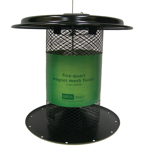Bird's Choice - Black Magnet Mesh Sunflower Feeder - 5 Quart