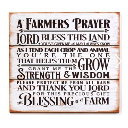 Farmer's Prayer Wall Plaque