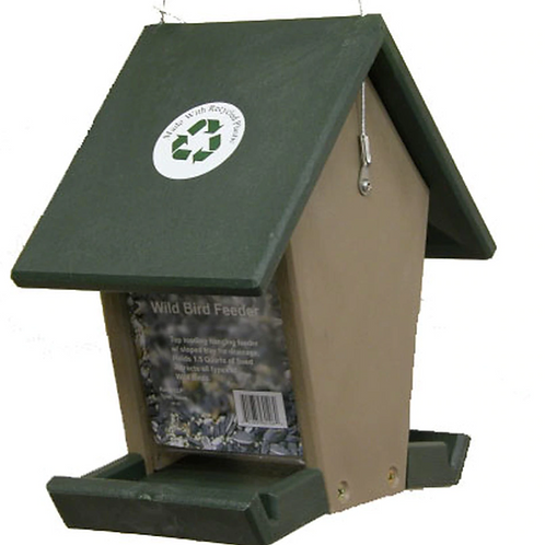 Recycled Plastic Small Hopper Bird Feeder
