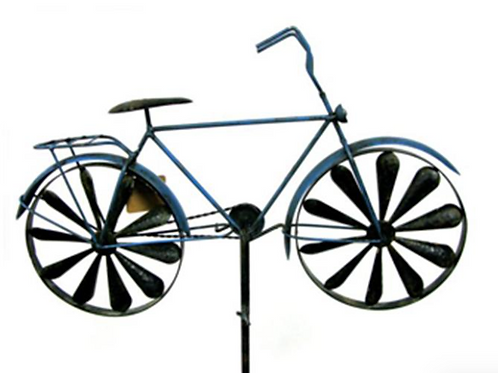 Bicycle Windmill Garden Stake
