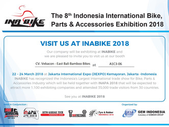 EBPP invites you to the launch of East Bali Bamboo Bikes @ INABIKE 2018
