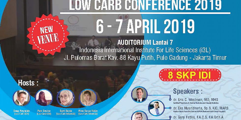 Tiket Indonesia International Low Carb Conference 2019