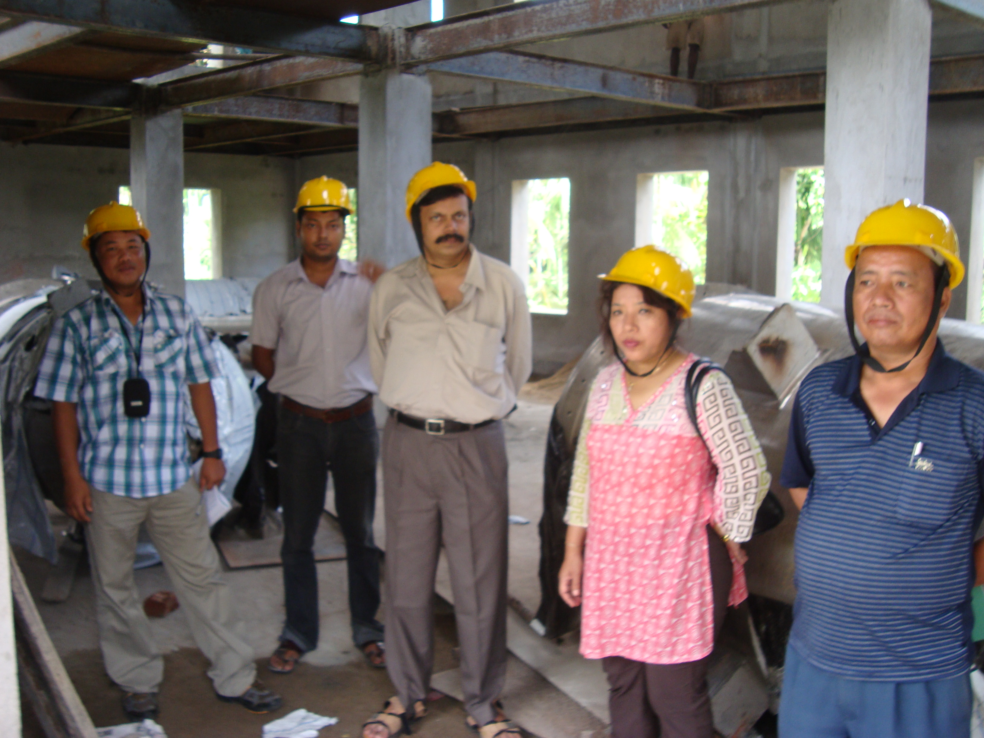 Visit to project construction site