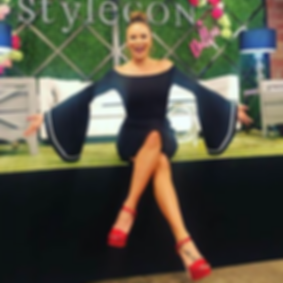 Tiffany Hendra hosting panel discussions in Dallas, TX at Stylecon 2017.