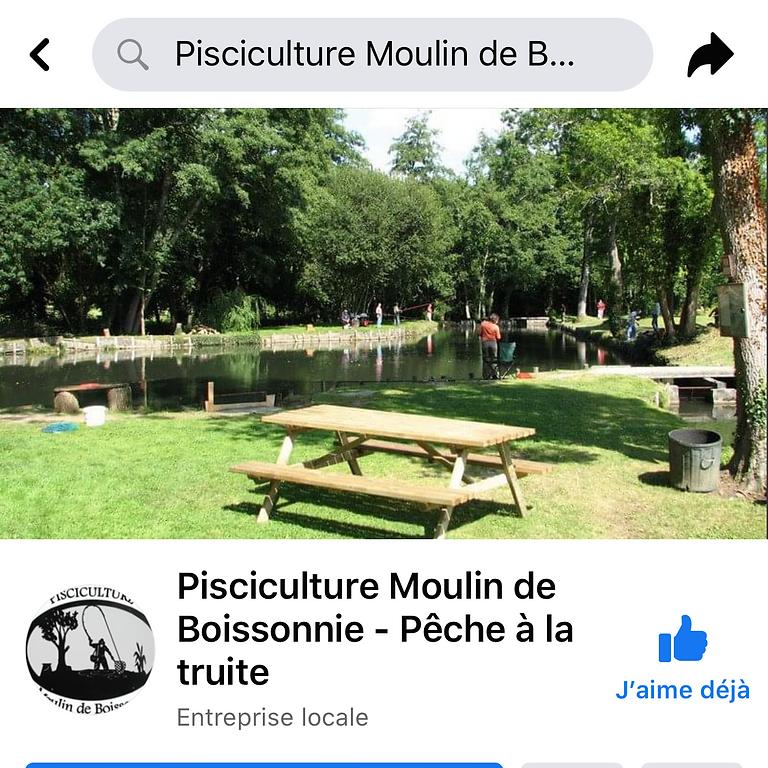 Pisciculture Moulin de Boissonnie sur Facebook