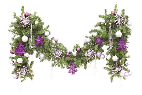 PURPLE LUSTRE GARLAND