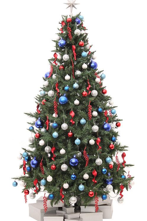 FESTIVE BLUE ARTIFICIAL TREE