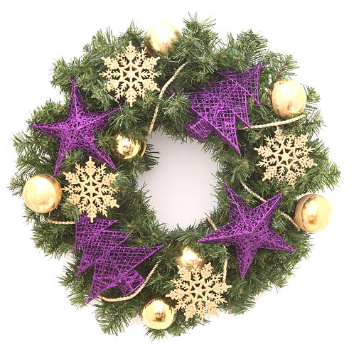 GOLDEN CHARM WREATH