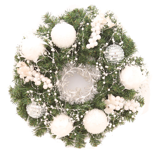 PEARLY WHITE WREATH