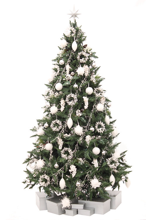PEARLY WHITE ARTIFICIAL TREE