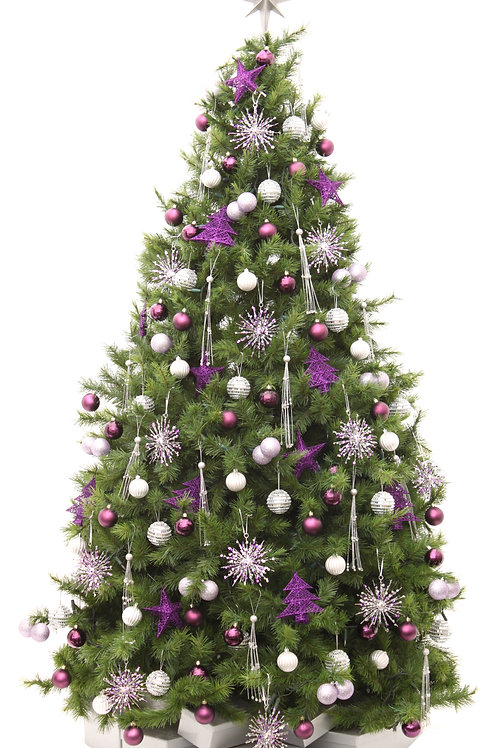 PURPLE LUSTRE ARTIFICIAL TREE