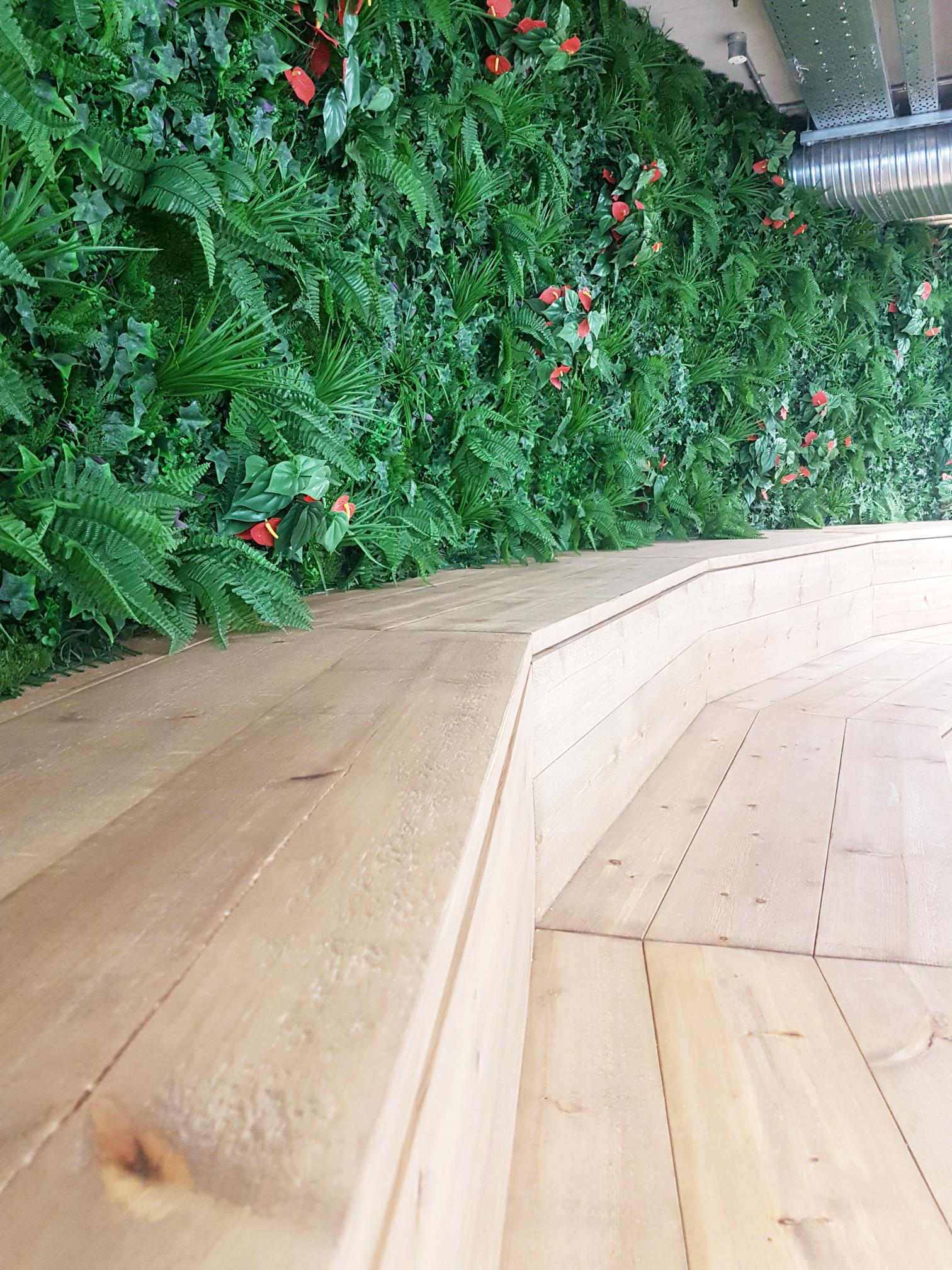 Curved Foliage Wall