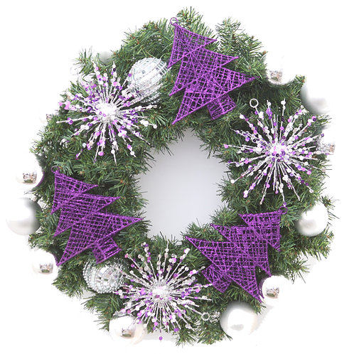 PURPLE LUSTRE WREATH