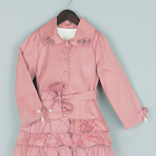 Pink Ruffled Coat