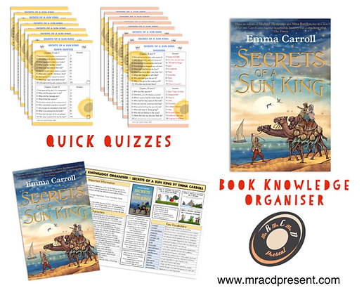 Secrets of a Sun King - Book Knowledge Organiser and Quick Quizzes