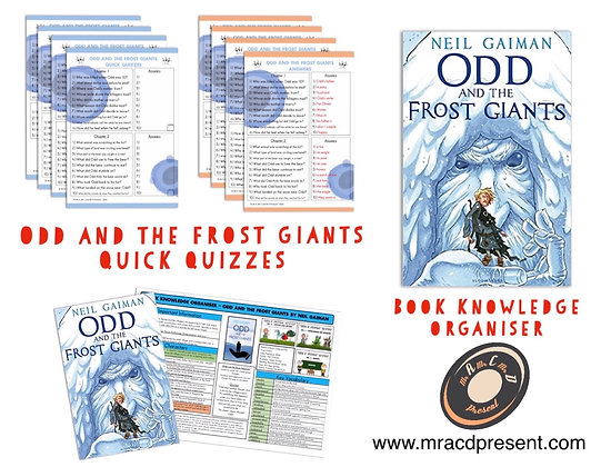 Odd and the Frost Giants - Book Knowledge Organiser and Quick Quizzes