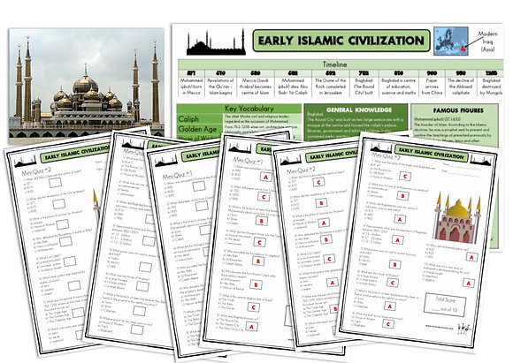 Early Islamic Civilization- Knowledge Organiser and Mini-Quizzes