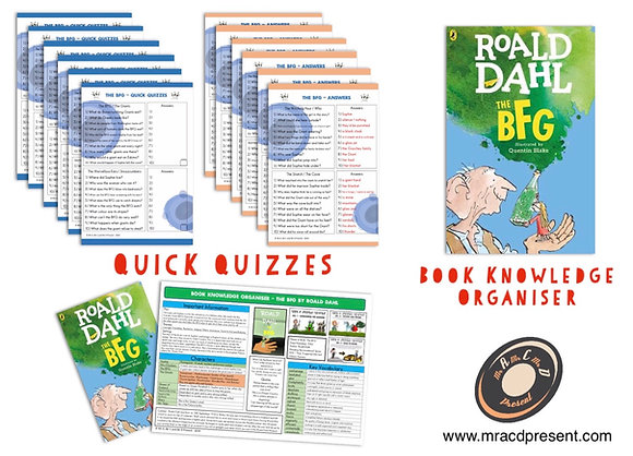 The B.F.G. - Book Knowledge Organiser and Quick Quizzes