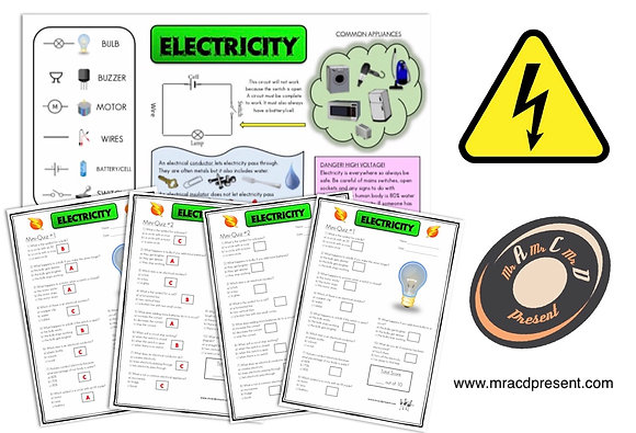 Electricity (Year 4) - Knowledge Organiser and Mini-Quizzes
