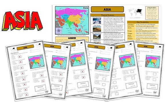 Asia - Knowledge Organiserand Mini-Quizzes