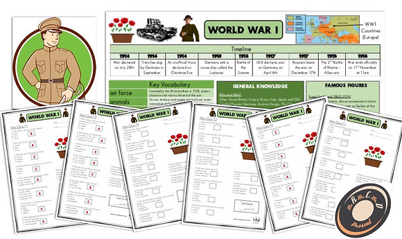 World War I - Knowledge Organiser and Mini-Quizzes