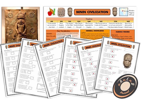 Benin - Knowledge Organiser and Mini-Quizzes