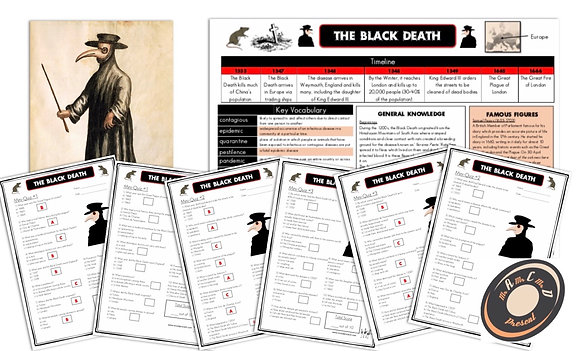 The Black Death - Knowledge Organiser and Mini-Quizzes
