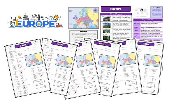 Europe - Knowledge Organiserand Mini-Quizzes