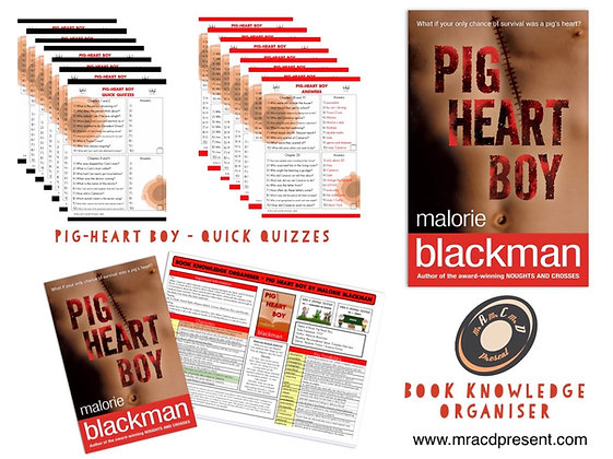 Pig-Heart Boy - Knowledge Organiser and Quick Quizzes