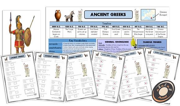 Ancient Greeks - Knowledge Organiserand Mini-Quizzes