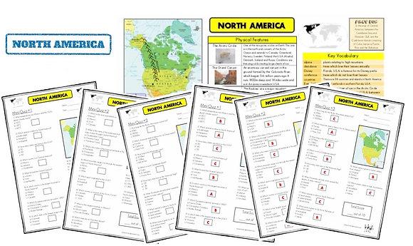 North America - Knowledge Organiserand Mini-Quizzes