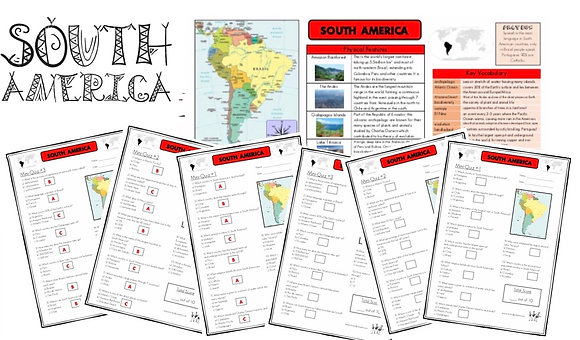 South America - Knowledge Organiser and Mini-Quizzes
