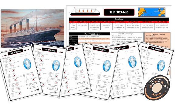 The Titanic - Knowledge Organiser and Mini-Quizzes