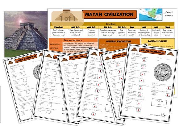 Mayan Civilization- Knowledge Organiser and Mini-Quizzes