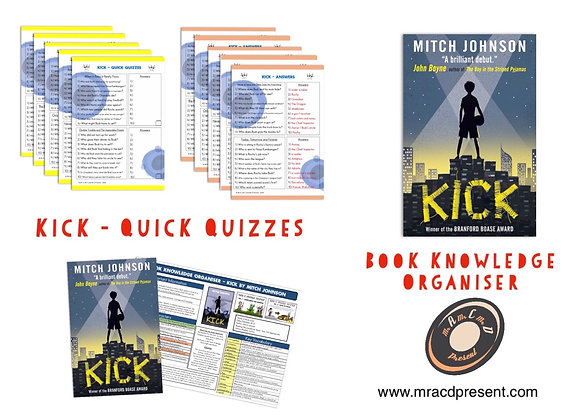 Kick - Book Knowledge Organiser and Quick Quizzes