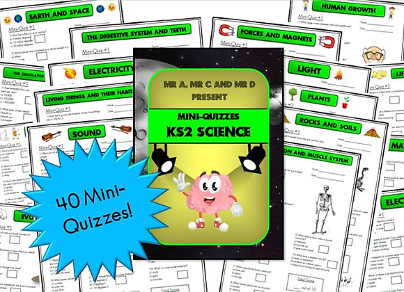 BUNDLE KS2 Science Mini-Quizzes