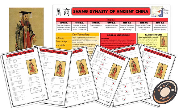 Shang Dynasty - Knowledge Organiser and Mini-Quizzes