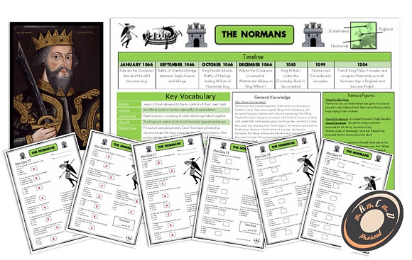 The Normans - Knowledge Organiser and Mini-Quizzes
