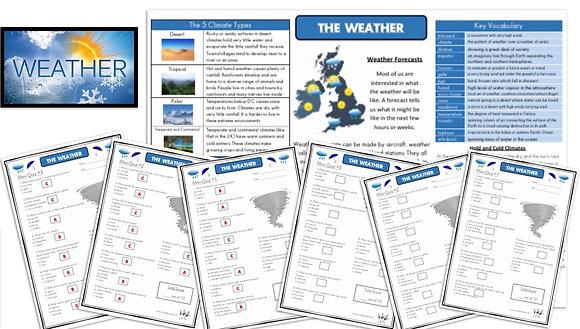 Weather - Knowledge Organiserand Mini-Quizzes