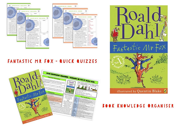 Fantastic Mr Fox - Book Knowledge Organiser and Quick Quizzes