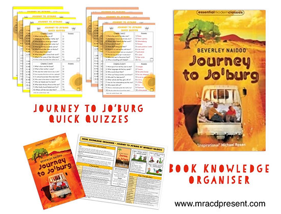 Journey to Jo'burg - Book Knowledge Organiser and Quick Quizzes