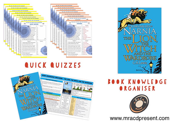 The Lion, the Witch and the Wardrobe -Book Knowledge Organiser and Quick Quizzes