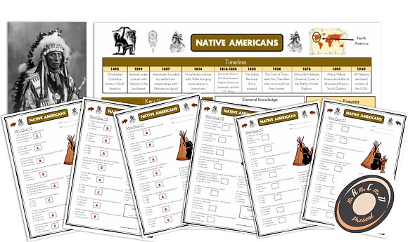 Native Americans - Knowledge Organiser and Mini-Quizzes