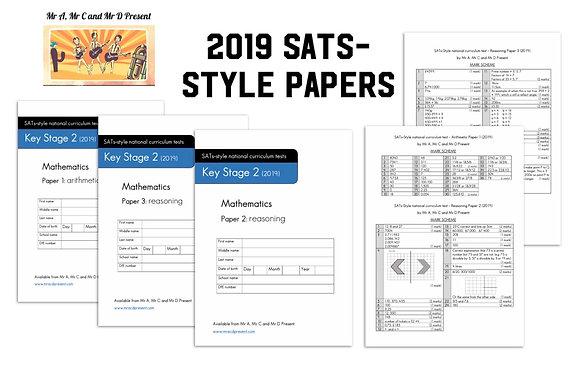 SATs-Style Maths Paper (Based on 2019)